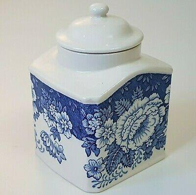 Crabtree & Evelyn Mason's Ironstone Blue & White Tea Canister/ Caddy