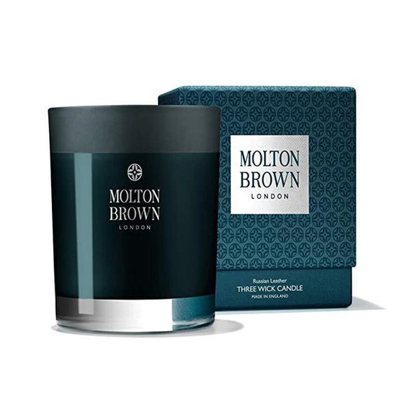 Molton Brown Russian Leather Three Wick Candle - British Bespoke | Shop Molton Brown Online - South Africa