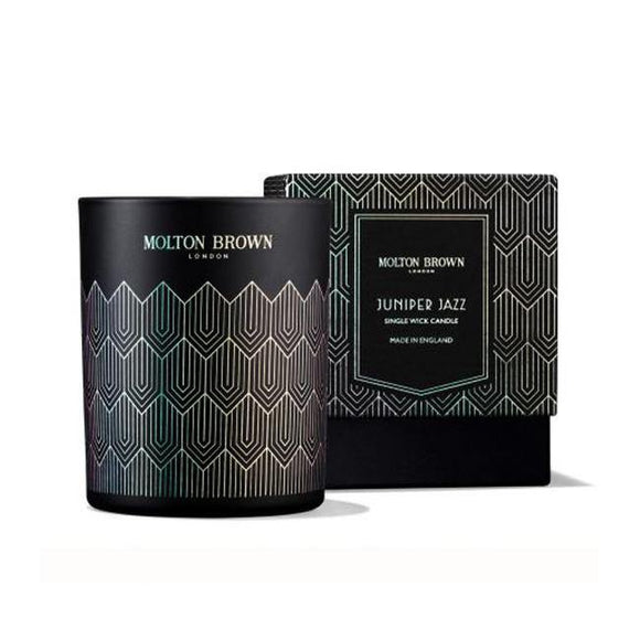 Molton Brown Juniper Jazz Single Wick Candle - British Bespoke | Shop Molton Brown Online - South Africa