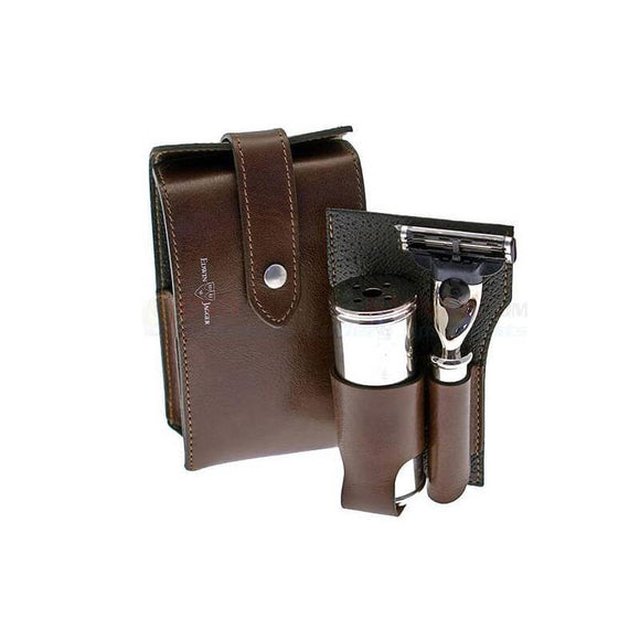 Edwin Jagger Brown Travel Set (Mach 3)