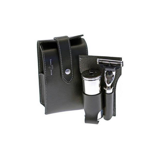 Edwin Jagger Black Travel Set (Fusion)