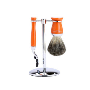 Edwin Jagger 3 piece Orange Shaving Set (Mach3) - British Bespoke