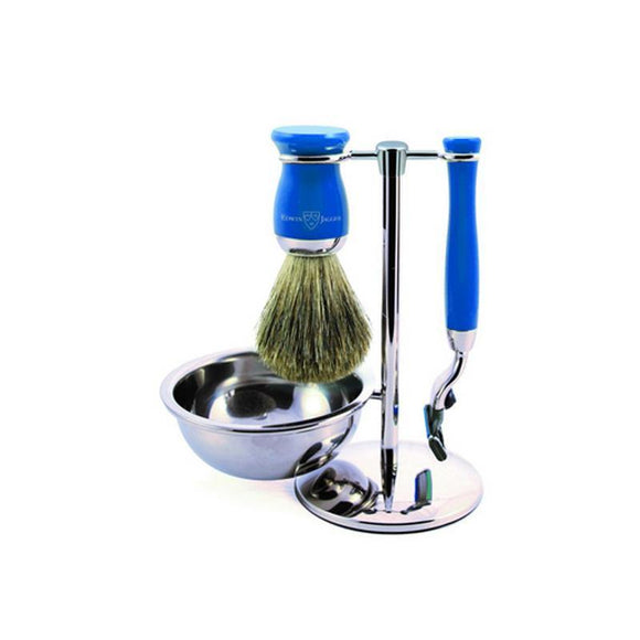 Edwin Jagger 4 piece Blue Shaving Set (Mach3)