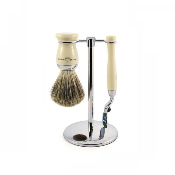 Edwin Jagger 3 piece Imitation Ivory Shaving Set (Mach3)