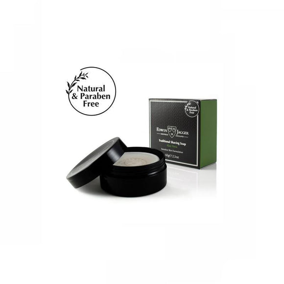 Edwin Jagger Aloe Vera Shaving Soap - 65g - British Bespoke | Shop Edwin Jagger Online - South Africa