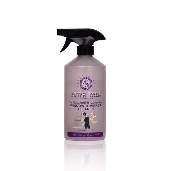Town Talk- Sandalwood & Lavender Mirror & Glass Cleaner 620ml - British Bespoke | Shop Online - South Africa