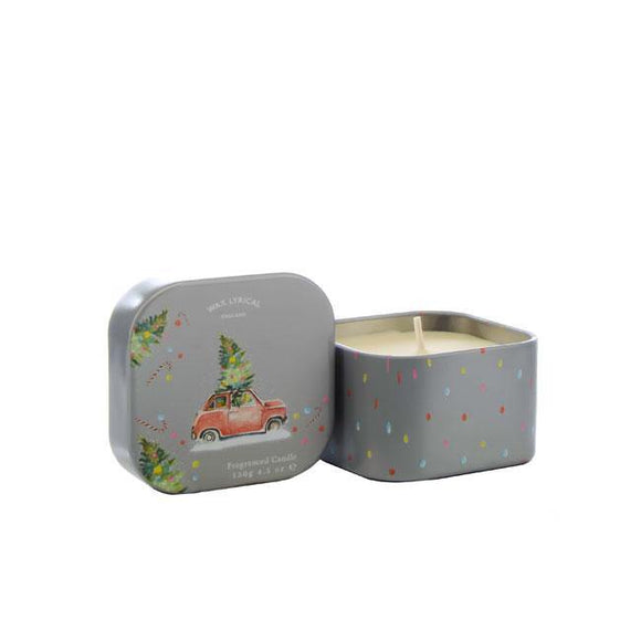 Wax Lyrical Home For Christmas Square Tin Candle