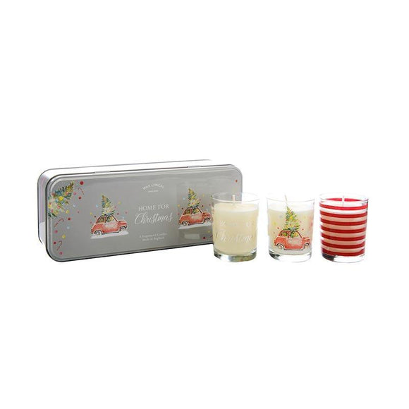 Wax Lyrical Set of 3 Votives Tin Home For Christmas - British Bespoke | Shop Online - South Africa