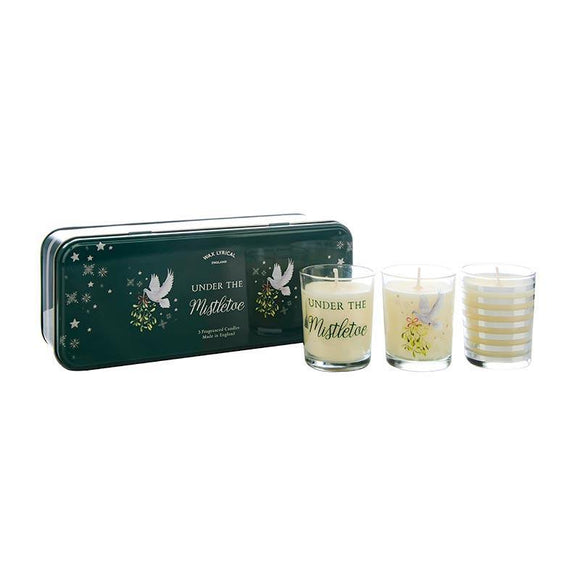 Wax Lyrical Set of 3 Votives Tin Under The Mistletoe - British Bespoke | Shop Online - South Africa