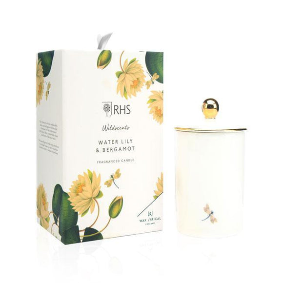 Wax Lyrical Water Lily and Bergamot Ceramic Candle - British Bespoke | Shop Online - South Africa
