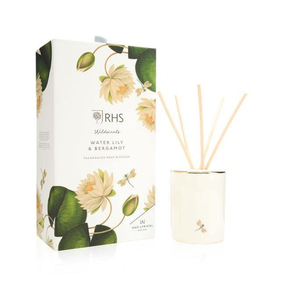 Wax Lyrical Water Lily & Bergamot Reed Diffuser - British Bespoke | Shop Online - South Africa