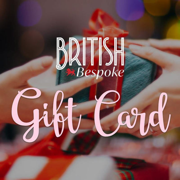 Gift Card - British Bespoke | Shop British Bespoke Online - South Africa