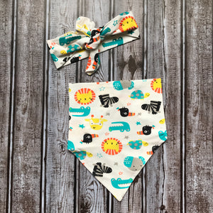 Bandana Bib with Matching Head Tie