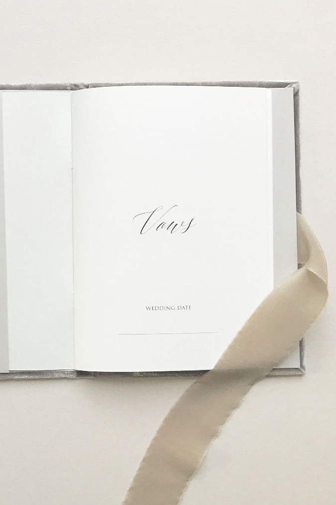 Vow Book - Ice Grey
