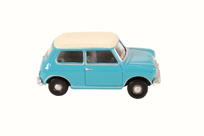 Oxford 1/76 Mini Surf Blue Old English White
