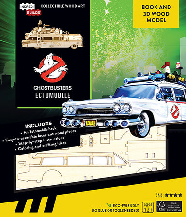 Incredibuilds Ghostbusters Ectomobile Book and 3D Wooden Model