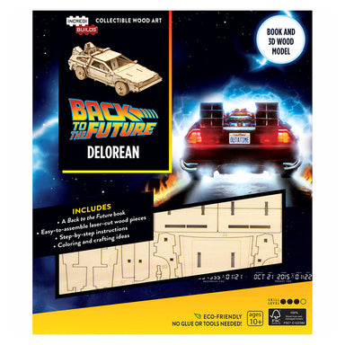 Incredibuilds Back to The Future Delorean 3D Wood Model and Book