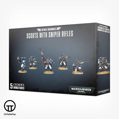GW 48-29 Space Marines Scouts With Sniper Rifles