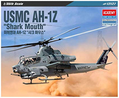 Academy 1/35 Usmc Ah-1Z Shark Mouth Helicopter