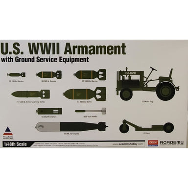 Academy 1/48 Us Wwii Armament Plus Ground Equipment