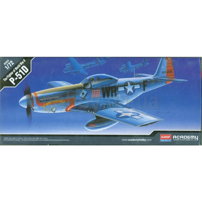 Academy 1/72 P-51D Mustang Plastic Model Kit Aus Decals