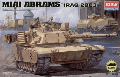 Academy 1/35 M1A1 Abrams Iraq 2003 Plastic Model Kit Aus Decals