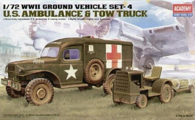 Academy 1/72 US Ambulance and Towing Tractor