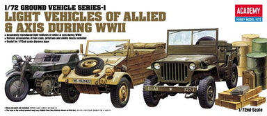 Academy 1/72 Light Vehicles Of Allied And Axis During Wwii