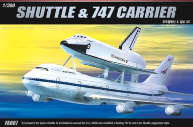 Academy 1/288 Shuttle & 747 Carrier Plastic Model Kit