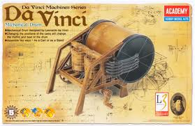 Academy 18138 Davinci Mechanical Drum Plastic Model Kit