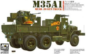AFV Club 1/35 M35A1 Quad .50 Gun Truck (Vietnam War) Plastic Model Kit