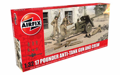 Airfix 1/32 17 Pounder Anti Tank Gun And Crew