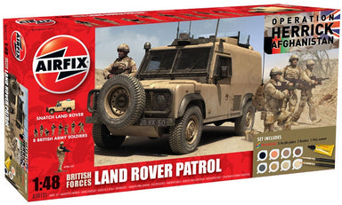 Airfix 1/48 British Forces Landrover Patrol Model Set