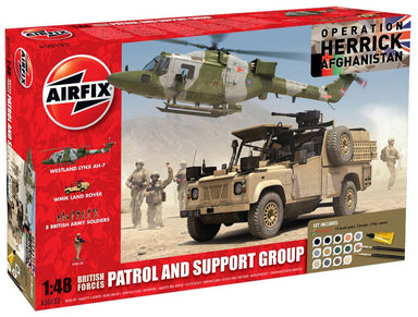 Airfix 1/48 British Forces Patrol And Support Group Model Set