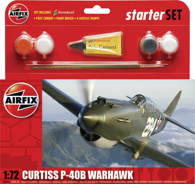 Airfix 1/72 Curtiss Tomahawk Iib Starter Set