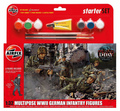 Airfix 1/32 Multipurpose Wwii German Infantry Figures Starter Set