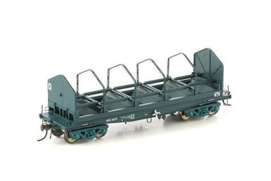 Auscision HO NSW-23 NCX Coil Steel Wagon with Tarp Hooks NSWGR PTC Blue 4 Car Pack