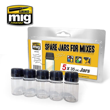 Mig Spare Jars For Mixes  (5 x 35 ml jars)