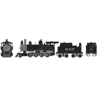 Athearn 84965 HO RTR Old Time 2-8-0, SF No.687