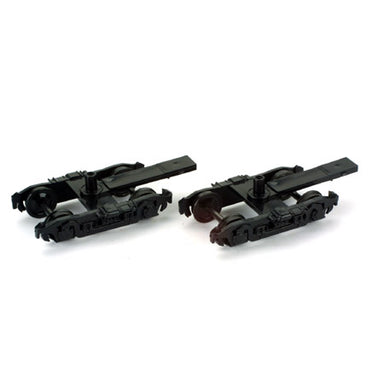 Athearn HO Truck, 4-Wheel Passenger/Black 36in Metal Wheel (2)