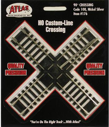 Atlas HO C100 90 Degree Custom Crossing