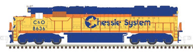 Atlas MRR N EMD SD50 - ESU LokSound & DCC - Master Gold - Chessie System C&O 8555 (yellow, vermillion, blue, black)