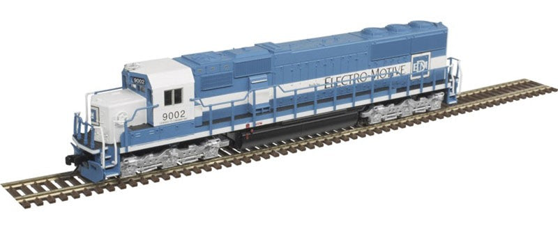 Atlas MRR N EMD SD60 - ESU LokSound & DCC - Master Gold - EMD Leasing (Oakway) 9002 (blue, white)