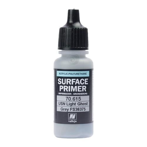 Vallejo Surface Primer Acrylic Polyurethane 17ml Usn Light Ghost Grey