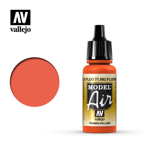 Vallejo Model Air 82 17ml Fluorescent Red