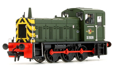 Bachmann OO BR Class 03 D2028 BR Green (Wasp Stripes) Diesel Shunter Locomotive