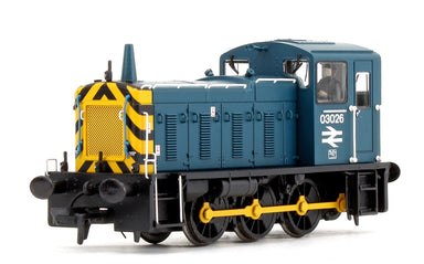 Bachmann OO BR Class 03 03026 BR Blue with Wast Stripes Diesel Shunter Locomotive DCC/Sound