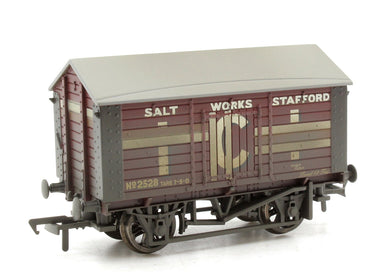 Bachmann OO 10T Covered Salt Wagon ICI Maroon Weathered