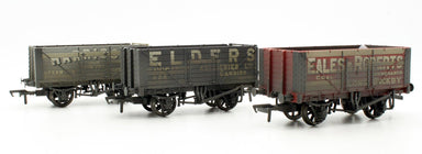 Bachmann OO 7 Plank 3 Wagon Pack Private Owner Wagons Weathered