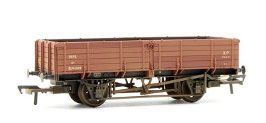 Bachmann OO 12 Ton Pipe Wagon Br Bauxite (Early) - Weathered